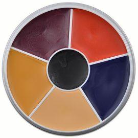 Kryolan Rainbow Circle Supracolor Burned Skin