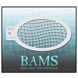 Bad Ass Facepaint stencil 4007