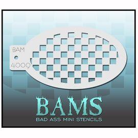 Bad Ass Bams Facepaint Stencil 4009