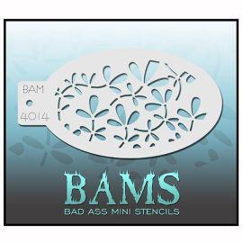 Bad Ass Bams Facepaint Stencil 4014