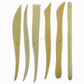 Kryolan Wooden Modeling Spatula Set 6pcs
