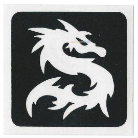 Glittertattoo Stencil Dragon (5 pack)