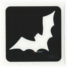 Glittertattoo Stencil Bat  (5 pack)