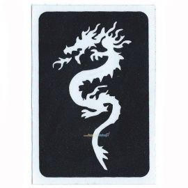 Glittertattoo Stencil Zen Dragon (5 pack)