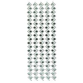 Bling Aqua Crystal Heart And Pearls