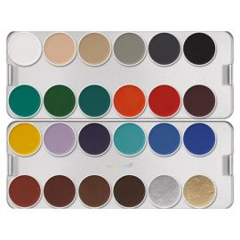 Kryolan Aquacolor K Basis Palette 24 Kleuren