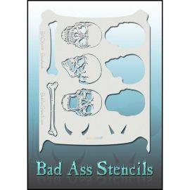 Bad Ass Bone Headz Bad Schmink Sjabloon