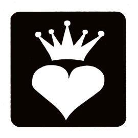 Glittertattoo Sjabloon Dolpin Heart  (5 pack)