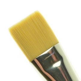 The 700-3/4 Soft Grip Brush is gold taklon which is a durable taklon brush that resists abuse.