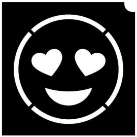 Glittertattoo Sjabloon Emoji Poop  (5 pack)