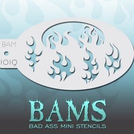 Bad Ass Bams FacePaint Stencil 1019