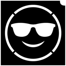 Glittertattoo Sjabloon Emoji Lovestruck (5 pack)