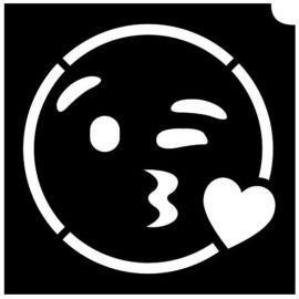 Glittertattoo Sjabloon Emoji Kiss (5 pack)