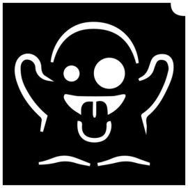 Glittertattoo Sjabloon Emoji Ghost (5 pack)