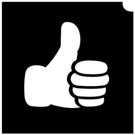 Glittertattoo Sjabloon Emoji Thumbs Up (5 pack)