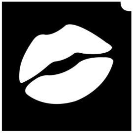 Glittertattoo Sjabloon Emoji Lip (5 pack)