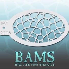 Bad Ass Bams FacePaint Stencil 2003