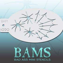 Bad Ass Bams FacePaint Stencil 1020