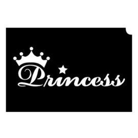 Glittertattoo Sjabloon Royal Princess (5 pack)