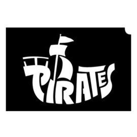 Glittertattoo Sjabloon Pirate Skull Sword 2 (5 pack)