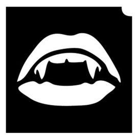 Glittertattoo Sjabloon Vampires (5 pack)