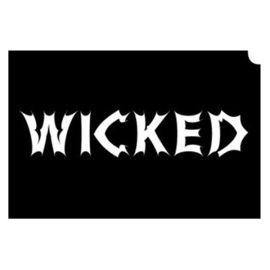 Glittertattoo Sjabloon Wicked (5 pack)