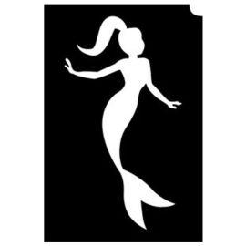 Glittertattoo Sjabloon Mermaid Princess (5 pack)