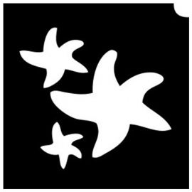 Glittertattoo Stencils Whale Burst (5 pack)
