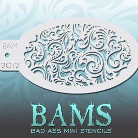 Bad Ass Bams FacePaint Stencil 2012