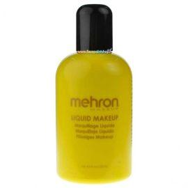 Mehron Vloeibare Schmink Geel 133ml  De duurzame Liquid Makeup wordt wereldwijd door professionals gebruikt voor designs die het hele lichaam bedekken. Beschikbaar in veel heldere, in het oog springende kleuren. Ideaal voor face & body painting van grot