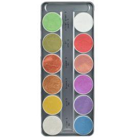 Kryolan Aquacolor Interferenz Palet 12 Colors Special Filling