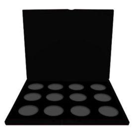 Sillyfarm kunststof case voor het opbergen voor 12 fab facepainting containers 45gr