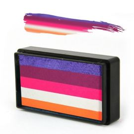 Arty Brush Hibiscus Rainbow Cake   Arty Brush Cakes are the newest sensation in Face and Body Painting. ABC's are miniature rainbow cakes that are used with a brush to create amazingly blended designs with one stroke of your brush.