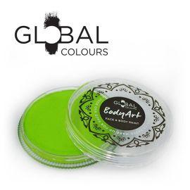 Global Face & Body Paint Lime Green 32gr  Met een veel betere samenstelling en consistentie dekt deze schmink beter dan ooit eerder bereikt, kunnen zelfs de meest veeleisende professionals nu hun grootste ideeën omzetten in hun beste werken.