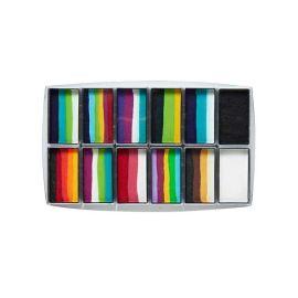 Global Rainbow Explosion Palette - 15g 12pk BodyArt One Stroke Set