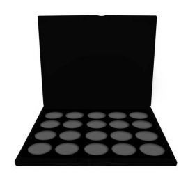 Empty Pro Palette With Fab 20 Color Insert  This lightweight custom built case is the perfect tool to carry anywhere while providing a professional organized, sleek look. The case includes a foam insert that holds (12) FAB 20gm cakes