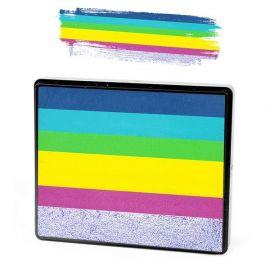 Sillyfarm Sparkling Faces Rainbowcake  Rainbowcakes van Sillyfarm hebben de mooiste kleurencombinaties voor prachtige schminkvervagingen en de mooiste basis op te brengen