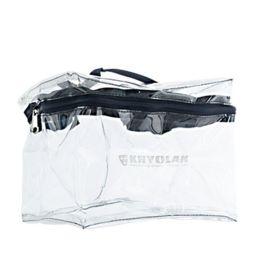 Kryolan Box Bag Medium  De Kryolan Box Bags zijn stevige afsluitbare tasjes van flexibel PVC. Ze kunnen eenvoudig gereinigd worden.
