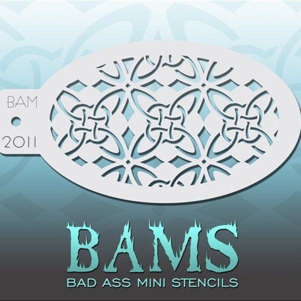 Bad Ass Bams FacePaint Stencil 2011