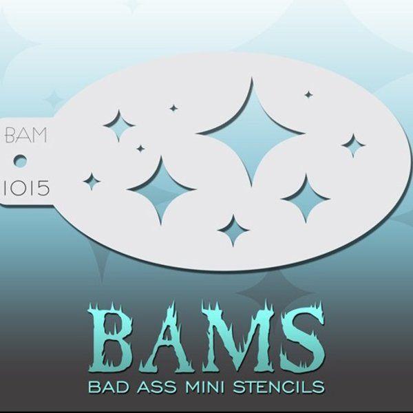 Bad Ass Bams FacePaint Stencil 1015