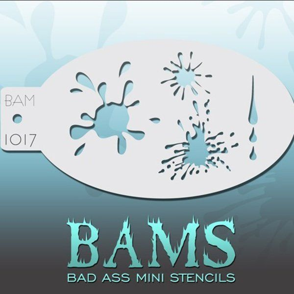 Bad Ass Bams FacePaint Stencil 1017