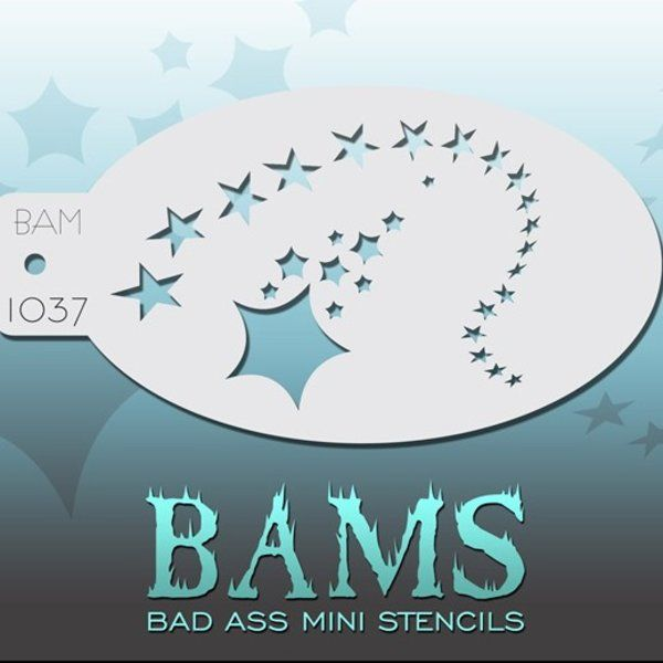 Bad Ass Bams FacePaint Stencil 1037
