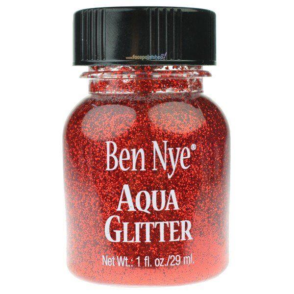 Ben Nye Aqua Glitter Rood