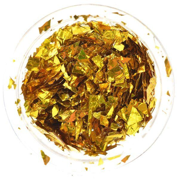 Cosmetic Metallic Flakes Goud