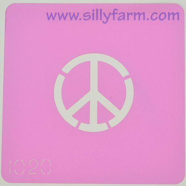 Silly Farm Stencil Peace Sign
