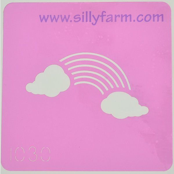 Silly Farm Stencil Rainbow