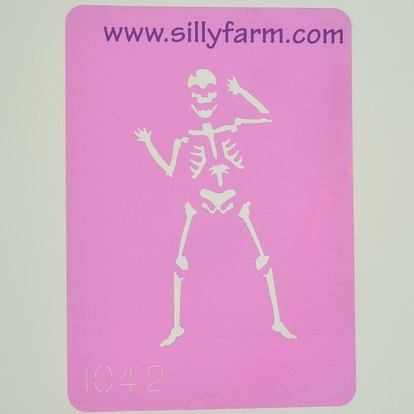 Silly Farm Stencil Skelet