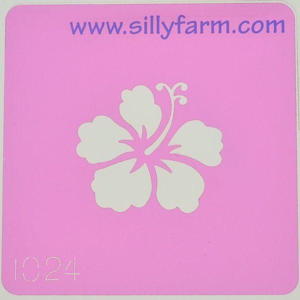 Silly Farm Stencil Flower