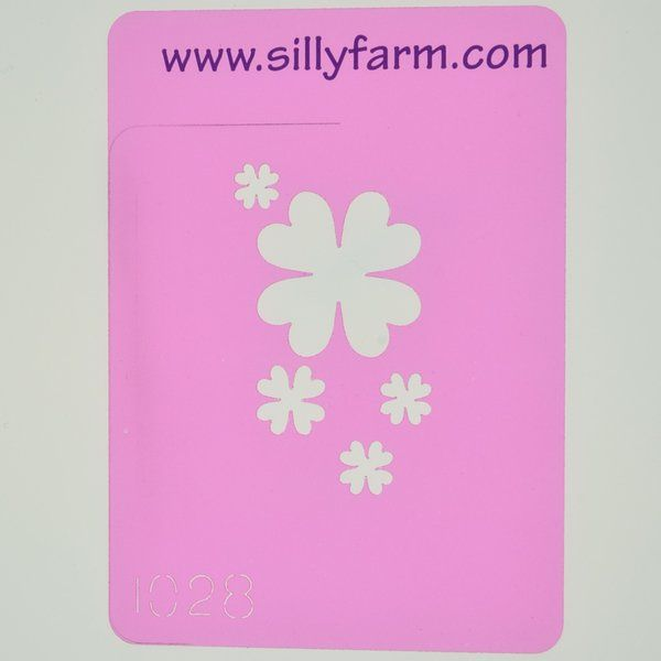 Silly Farm Stencil Clovers
