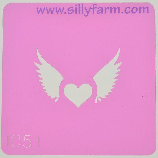 Silly Farm Stencil Hearth Wings